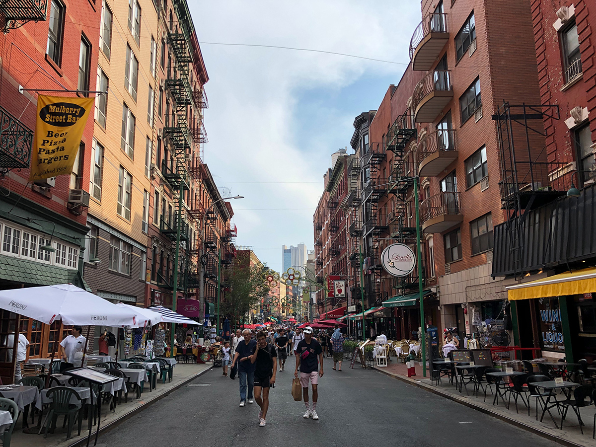 A look into Little Italy in New York. (Photo: Sam Fowler)