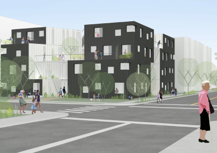 Exterior Rendering of Comma - Los Angeles